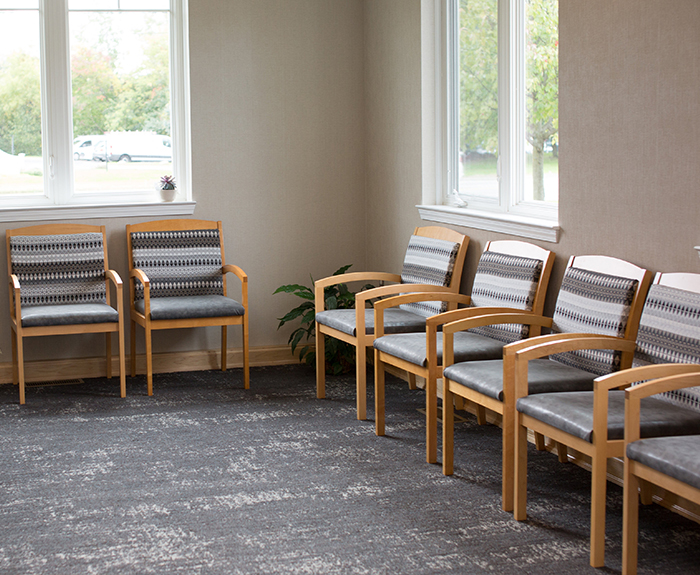 Cozy dental office waiting room